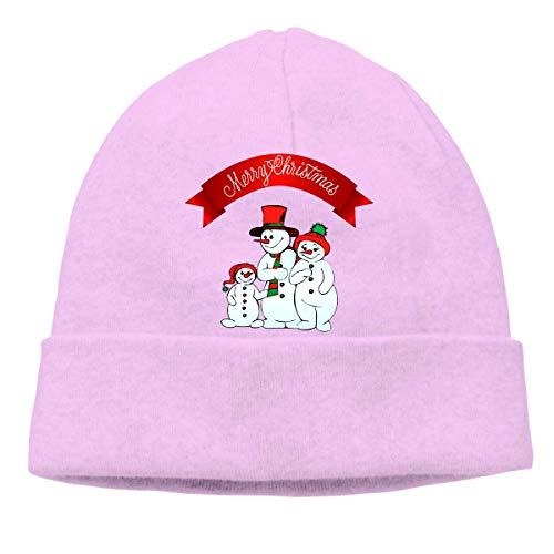 Skull Cap Solid Hedging Cap Uhr Cap Weihnachten Schneemann Unisex Beanie Hats Black