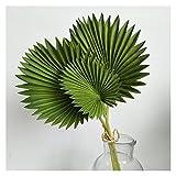 YGUIYONG Flores Artificiales 45 cm 3pc de Hojas de Palma Artificial Manojo Plantas Verde arreglo Floral decoración del hogar (Color : 45cm A)