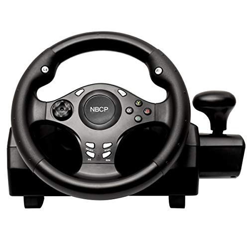 Game racing wheel 270 degree driving force steering wheel for racing games XBOX ONE / XBOX 360/ PS4 / PS3 / Nintendo Switch / Android with pedals gear accelerator brake