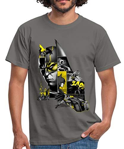 Batman 80 Ans Batmobil T-Shirt Homme, XXL, Gris Graphite