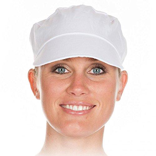 Schildmütze in Weiß - sehr strapazierfähig - Universalgröße - Schirm ist dreifach mit der Mütze vernäht