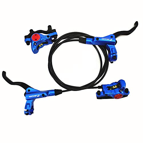 Zoom- HB-875 Hydraulic Disc Brake Front & Rear 750mm & 1400mm Set for Mountain Bike MTB BMX (Blue)