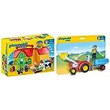 Playmobil 6962 - Mein Mitnehm Bauernhof & 6964 - Traktor mit Anhänger