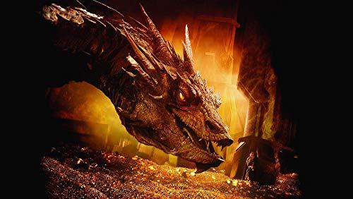 Slbtr Kits De Números De Diamantes Redondos 5D Diy - Póster El Señor De Los Anillos-Hobbit - Ideal Para El Hogar, La Oficina, La Decoración De Paredes 11,8 × 15,75 Pulgadas