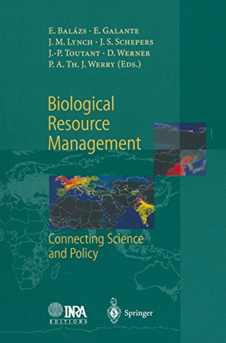Biological Resource Management Connecting Science and Policy (English Edition)