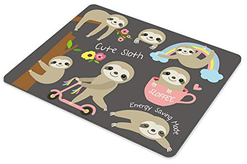 Smooffly Cute Baby Sloth Mouse pad Non-Slip Rubber Gaming Mousepad Rectangle Mouse Pads for Computers Laptop Photo #3