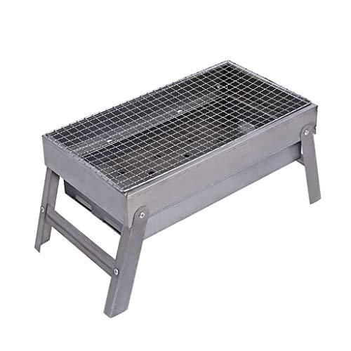 LEZDPP Estufa portátil Plegable del carbón de leña Parrilla de la Barbacoa al Aire Libre Barbacoa Barbacoa Inicio Mini Estufa de carbón Que acampa Barbacoa