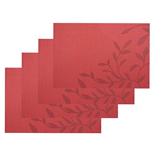 Jeu de tapis table de 6, isolation de Set de table PVC anti-dérapant isolation lavable revêtement protecteur pour Table tapis pour Table de cuisine(Bleu)