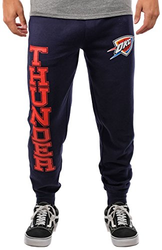 Ultra Game NBA Oklahoma City Thunder Mens Basic Soft Terry Jogger Pants, Team Color, Large