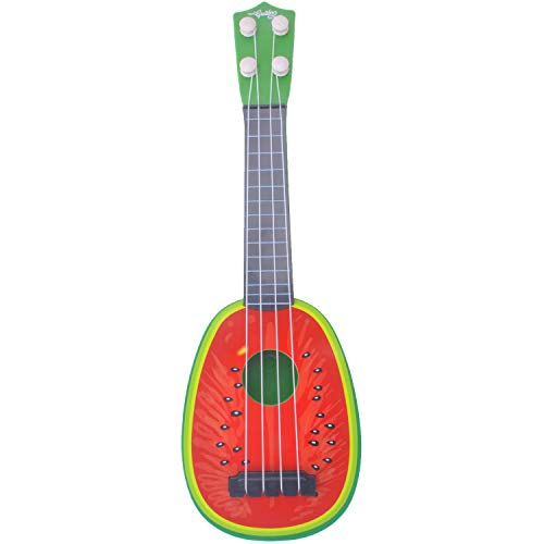 kuaetily Kinder Ukulele Mini Obst Gitarre Spielzeug (Wassermelone)