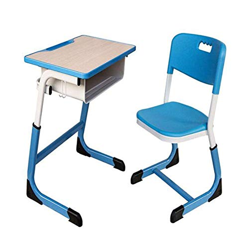 N/Z Tägliche Ausstattung Tische Möbel Schreibtisch und Stuhl Set Höhe Verstellbar Langlebig Antilip Multifunktions-Schreibtische Stühle Grün 1