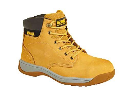 DeWALT Builder - Botas de seguridad para hombre con cordones SB con puntera de acero, color Amarillo, talla 42 2/3 EU