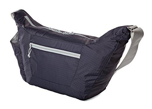 Lowepro Photo Sport Kameratasche/Schultertasche (18 l, für CSC- & DSLR-Kameras) Violett 7 Grau