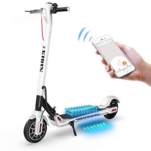GoZheec Trottinette Électrique, KUGOO ES2 Scooter Électrique Pliable 350W Moteur avec Contrôle de l'application et Port USB Intégré, 7.5Ah Batterie, LCD Écran d'affichage,25km/h, 8.5 inch Pneu