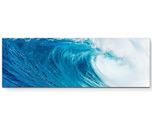 Paul Sinus Art Leinwandbilder | Bilder Leinwand 150x50cm gewaltige Welle im Meer