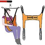 Eslinga de elevación Elevadores de pacientes para uso doméstico Correa de transferencia eléctrica Eslinga para inodoro sin soporte para la cabeza Eslinga de cuatro puntos para