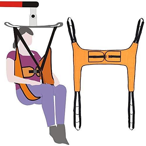 Imbracatura di sollevamento Sollevatori per pazienti per uso domestico Cinghia di trasferimento elettrica Imbracatura per toilette senza supporto per la testa Handicap medico