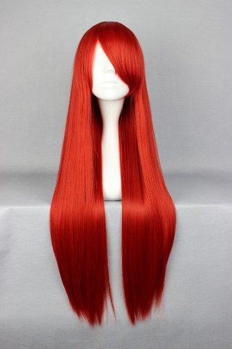 Perücke Rot 80cm lang Fairy Tail - Erza Scarlet Red Cosplay oder Schaufensterpuppen Karneval oder Mottoparties - CC-WIG-001J