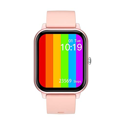 YDL Smart Watch Men Woman IP67 ECG Impermeable PPG Bluetooth Call Bluetooth Presión Arterial Rate Fitness Tracker Sportwatch PK PK P8 (Color : Pink)