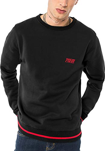 Pusher Apparel Herren PSHR Sweater Sweatshirt, Black, L