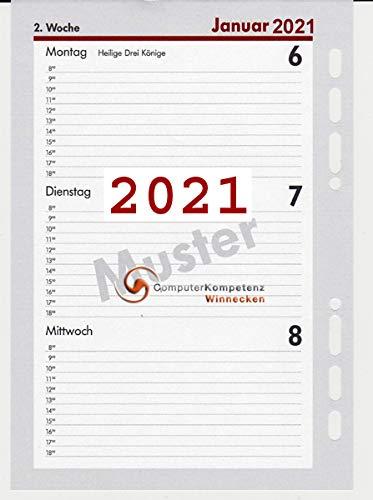bsb Kalendarium 2021 1Woche=2Seiten A5 Multilochung Timeplaner 02-0048