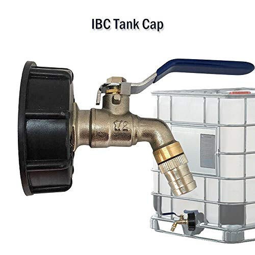 Otto 1 Pièce Raccord Robinet en Laiton Chromé pour IBC Cuve 1000 litres, Sortie Raccord Rapide, Diamètre de Sortie 3/4\