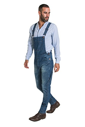 USKEES Toby Latzhose, Slim Leg - Vintage Wash Herren Denim Jeans-Latzhose TOBY2VINTAGE-30W
