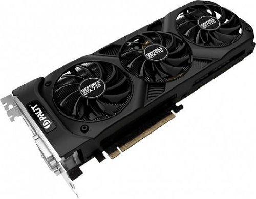 Palit NE5X770S1042F GeForce GTX 770 OC Grafikkarte (PCI-e, 2GB GDDR5, Dual DVI, HDMI, DP, 2X GPU)