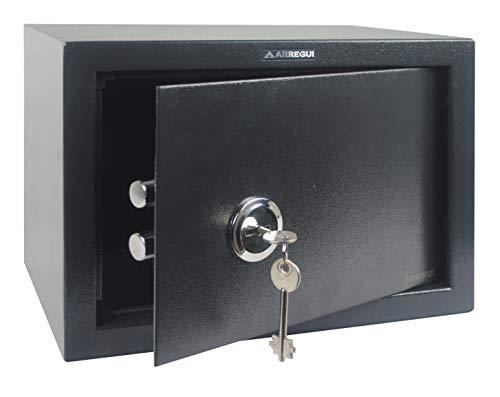 Arregui T25K Caja fuerte de sobreponer sólo llave.350x250x250 mm, Gris oscuro, 350 x 250 x 250 mm