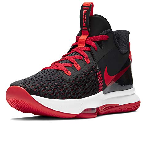 Nike Lebron Witness 5, Zapatillas de Baloncesto. Unisex Adulto, Black Bright Crimson University Red, 48.5 EU