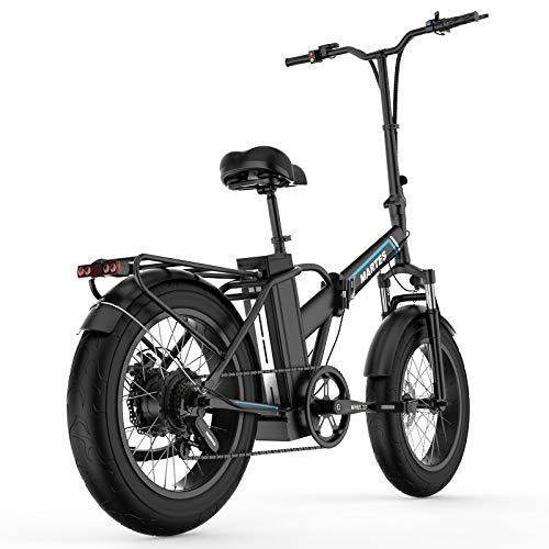 Martes Bicicleta eléctrica plegable Fat Tire 20 4' con 48V 500W 15Ah Batería de iones de litio, City Mountain Bicycle Booster 100-120KM