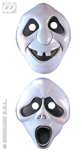 Widmann PLASTIC GHOST MASK - CHILD SIZE - 2 styles