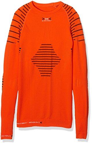X-Bionic i20286 Invent UW imperméable pour Adulte Junior-Manches Longues SL Multicolore Orange Sunshine/Black 8/9