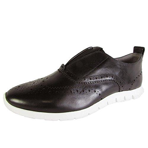 Cole Haan Womens Zerogrand Slip On Wingtip Shoes, Black/Optic White, US 10.5