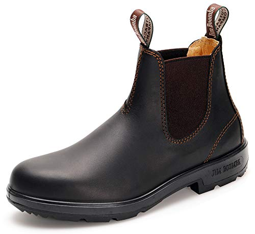 Jim Boomba Town & Country Chelsea Boots | Australian Style | Size 40 EU / 06.5 UK, Dark Brown