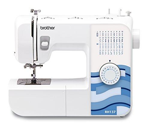 BROTHER RH137 Machine à Coudre : la Couture créative Devient Une Passion, Plastique, Blanc/Bleu, 19,4 x 44,4 x 37 cm