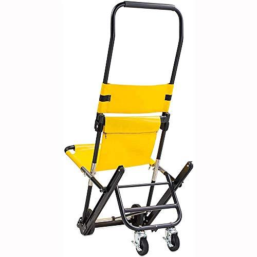 Zuoao Stair Chair Klappstuhl Stair Stretcher Ambulance Feuerwehrmann Evakuierung Medizinische Aufzug Treppenstuhl,Yellow