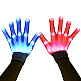 HITOP 12Color changeable Led Gloves, Cool Unique Gifts Toys for Men Women Kids,Led Flashlight Gloves for Boy Girl