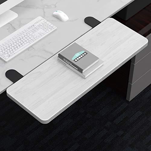 LIYANG Bandeja extensora ergonómica para Escritorio, cajón para Teclado, reposabrazos para el hogar y la Oficina, Plegable en 90 Grados, Color Blanco