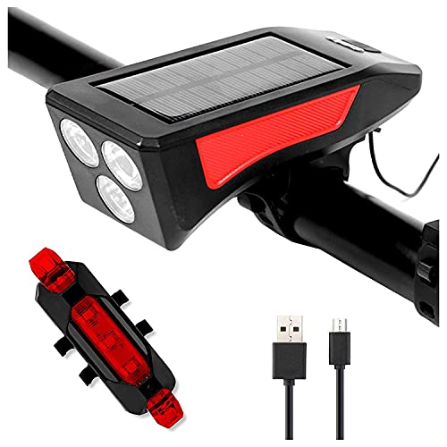 USB rechargeable bicycle lights, super bright LED bicycle lights front and rear tail lights, IPX5 waterproof mountain bike headlights and tail lights set