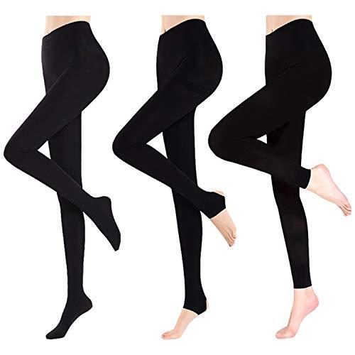 Petalum 3er Pack Damen Leggings Winter Warm Gefüttert Leggings Schwarz Blickdicht Leggins Thermo Strumpfhose Yoga Leggins Yogahose Sport...