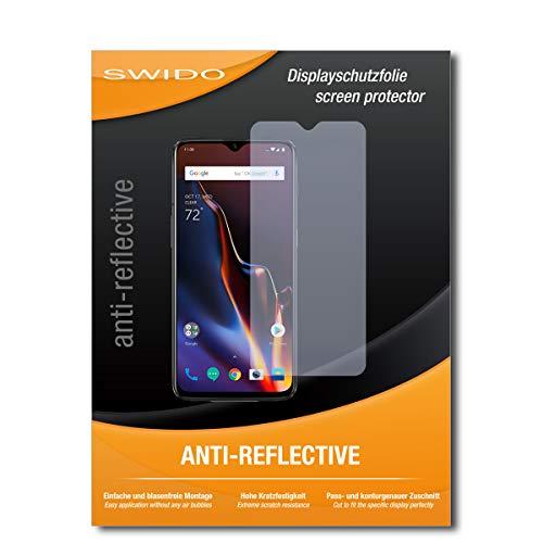 SWIDO Schutzfolie für OnePlus 6T [2 Stück] Anti-Reflex MATT Entspiegelnd, Hoher Festigkeitgrad, Schutz vor Kratzer/Bildschirmschutz, Bildschirmschutzfolie, Panzerglas-Folie