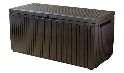 Keter 305L Springwood Garden Storage Box - Brown