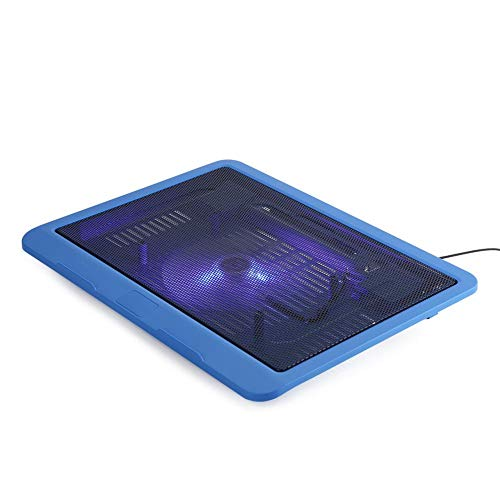 ASHATA Laptop Cooler Cooling Pad, USB Notebook Cooling Pad Laptop Cooler con 1 Ventola a LED silenziosa, Slim Portable USB Powered, per Laptop 14