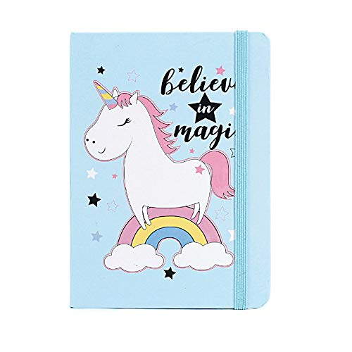Creative Kawaii Unicorn Hardcover Notebook A5/A6/A7 96 Sheets Diary Cute Notes Book For Kids Stationery School Supplies A7105x75mm randomcolor