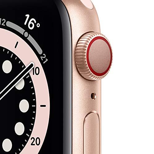 AppleWatch Series6 (GPS+ Cellular, 40mm) Aluminiumgehäuse Gold, Sportarmband Sandrosa