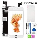 Ecran LCD Vitre Tactile Complet sur Châssis pour iPhone 6s Blanc 4,7'' avec Outils Bouton Home...