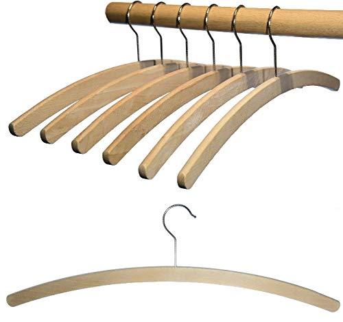 Hagspiel, grucce in legno di faggio, grucce semplici grezze, 42 cm di lunghezza, salvaspazio, ecologiche, made in EU (90 pezzi grezzi)