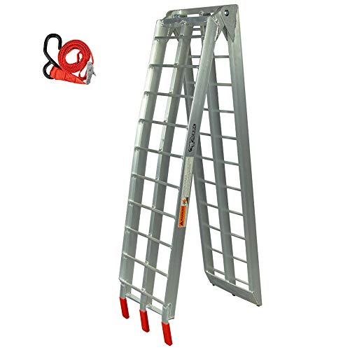 "Pit Posse PP2755 Motorcycle Folding Loading Ramp Aluminum 89"" Dirt..."