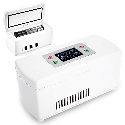 Estuche Insulina Enfriador Caja Mini Refrigerador Portátil Aislado Temperatura Constante del Coche 2-8 ℃ Organizador Profesional Almacenamiento para Viajes, Aire Libre, Camping, Trabajo